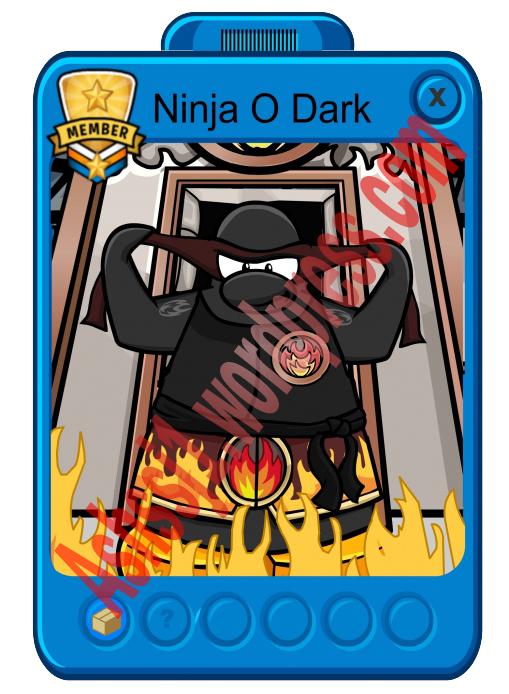 club penguin mascot ninja o dark ashssj1 club penguin cheats - Club Penguin Coloring Pages Ninja